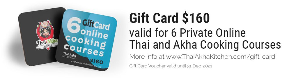 Gift Card - Thai Akha Kitchen - Online Cooking Class