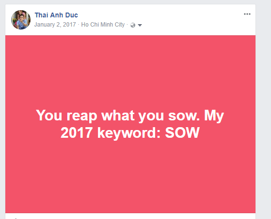 2017 Keyword: SOW