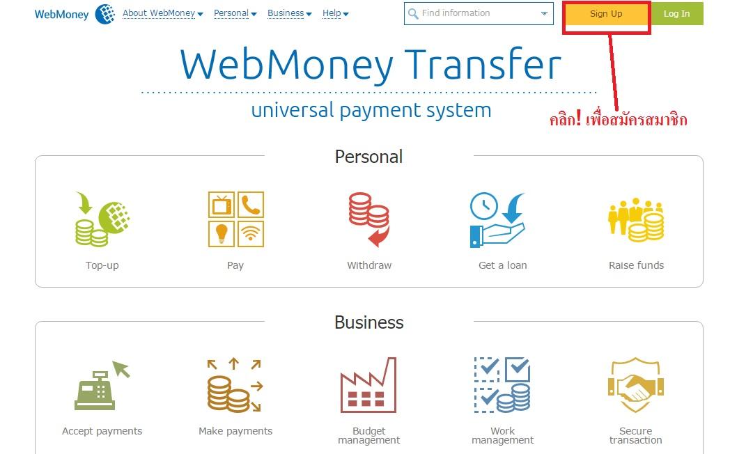 Webmoney วิธีสมัคร 1