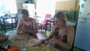 Thai Cooking course with mother and daughter