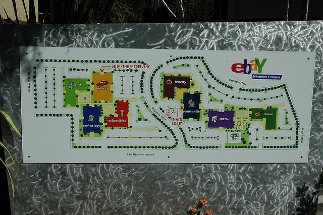 แผนที่สำนักงานใหญ่ eBay