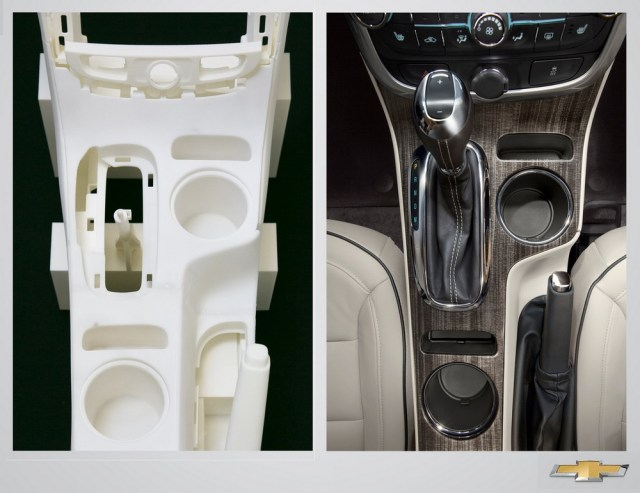 Rapid prototyping processes that literally grow parts out of powder or liquid resin at a fraction of the cost associated with building tools to make test parts were used to help speed the refreshed 2014 Malibu into production.