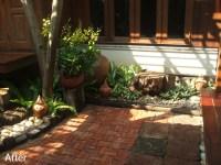 Brick Terrace and Thai Rock Garden - Thai Garden Design