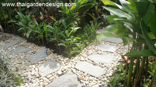 Shade Planting For A Tropical Rock Garden Thai Garden Design