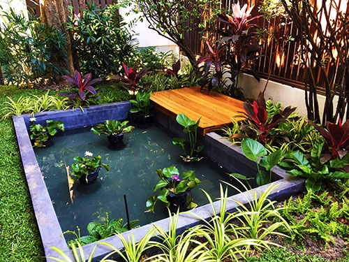 family fish pond in sathorn bangkok