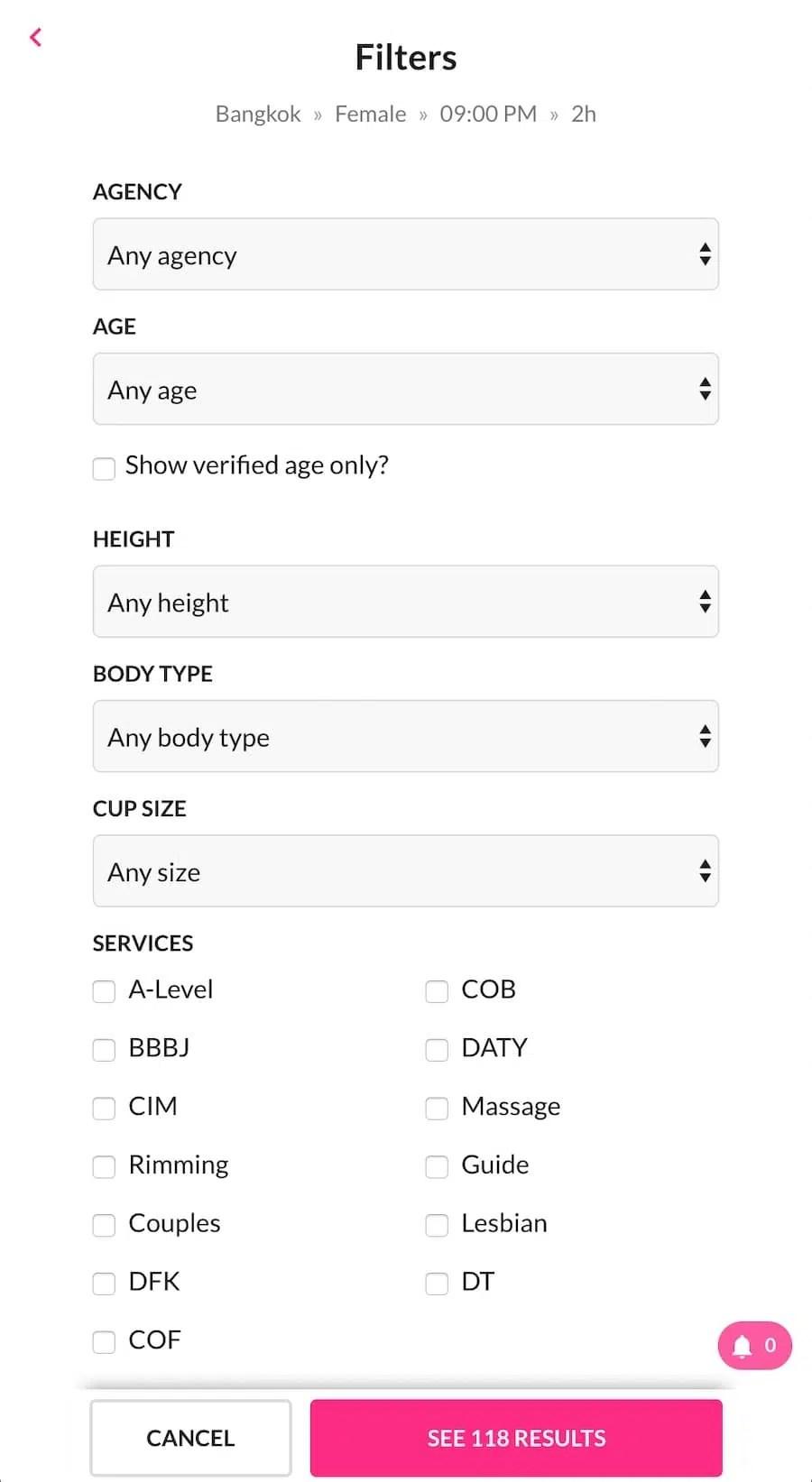 smooci website filters