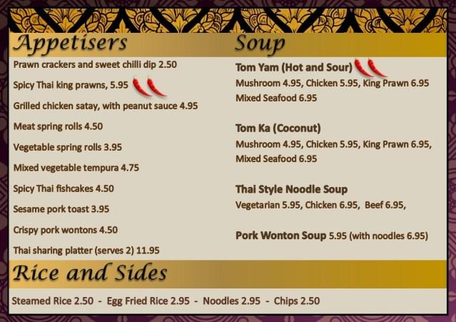 Thai Food Kitchen Bolton Menu Opening Times
