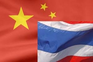 china thailand flags