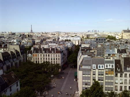 Paris downtown beaubourg view