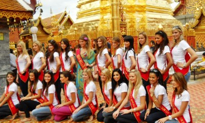 Miss Belgium pageant at Doi Sutep
