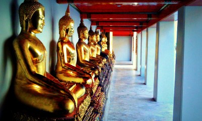 Buddhas at Wat Phra Chetuphon, popularly referred to as Wat Pho