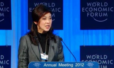 Yingluck Shinawatra attending the 42th annual World Economic Forum (WEF) in Davos, Switzerland