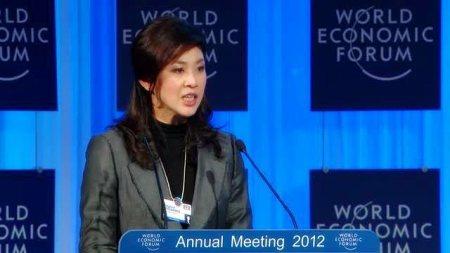 Yingluck Shinawatra attending the 42th annual World Economic Forum (WEF) in Davos, Switzerland