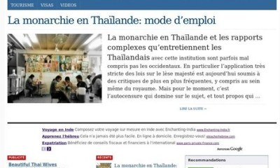 French Website on Thailand registered close to 10 millions page views in 2011