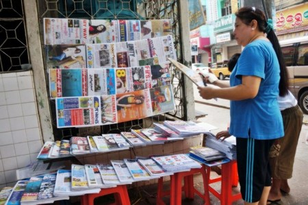 News Stand in Myanmar