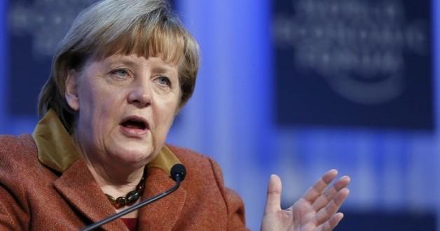 Angela Merkel at the World Economic Forum's Annual Meeting in Davos 2013