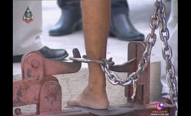 Thailand officially announced that it will end shackling inmates with iron chains and bars