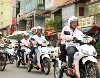 Taxis scheme offers hope for the handicapped in Vietnam