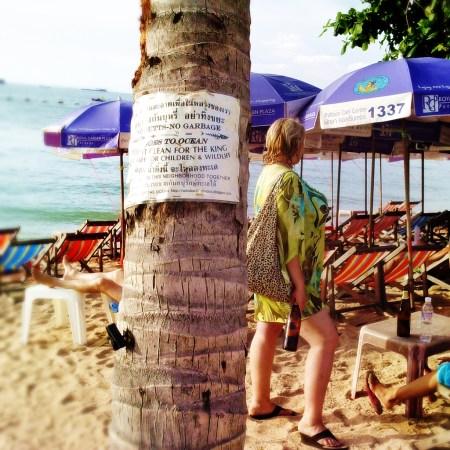 Pattaya beach Russian Tourist