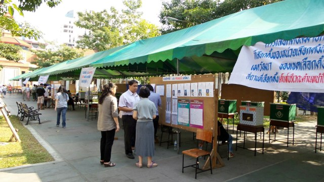 A polling station in Bangkok, during Sunday Feb. 2nd general election.