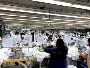 Photo: Inside a garment factory in Clark Freeport Zone.