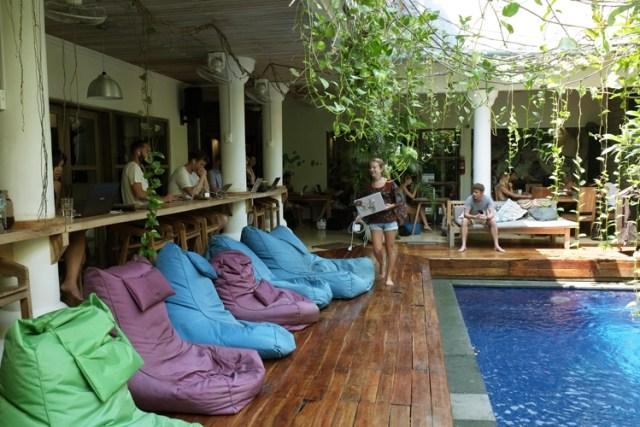 Dojo Bali coworking space in Canggu. Photo : Camilla Davidsson