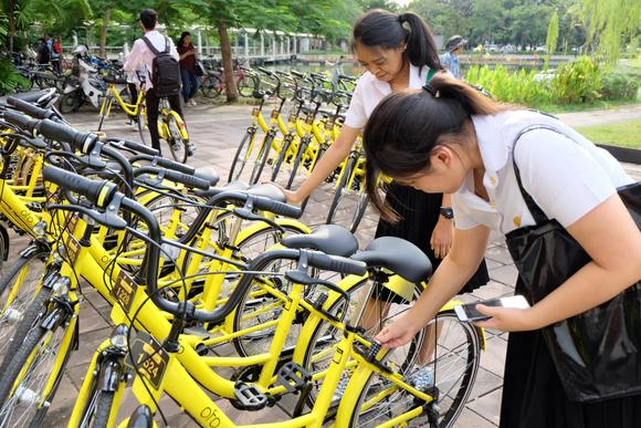 Chinese bike-share operators are expanding in Thailand ...