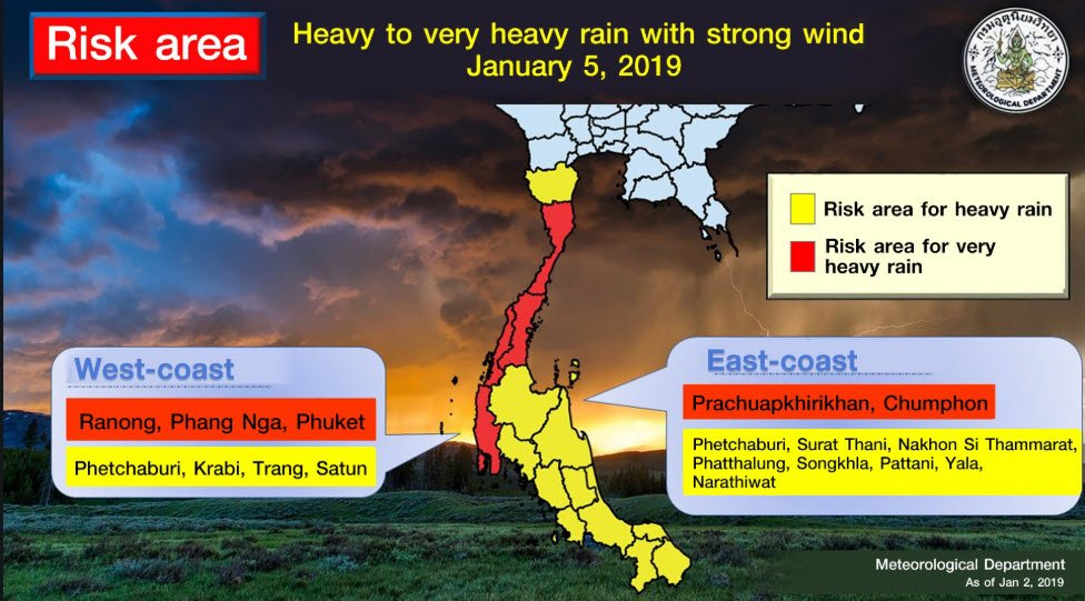 Tropical Storm Pabuk : Thai authorities on high alert in the South