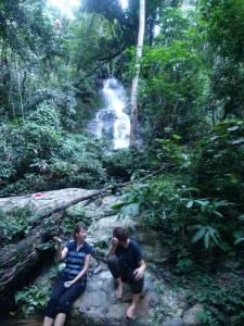 Doi Suthep Walkers see a waterfall in Chiang Mai