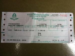 Train ticket thailand