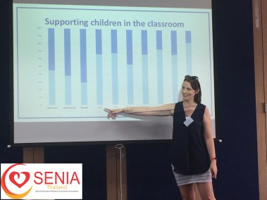 Hayley Thomas presenting Supporting children in the classroom