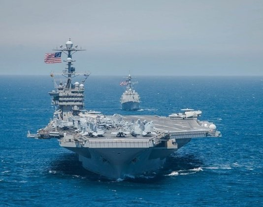 US Navy Carrier Conducts Exercises in South China Sea