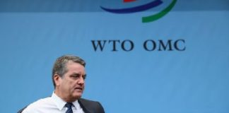 World Trade Organization (WTO) Director-General Roberto Azevedo arrives for the General Council at the WTO headquarters in Geneva, Switzerland, December 9, 2019. REUTERS/Denis Balibouse/File Photo