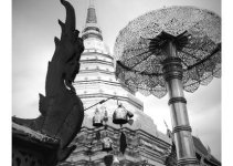 Thailand Vacation in black and white