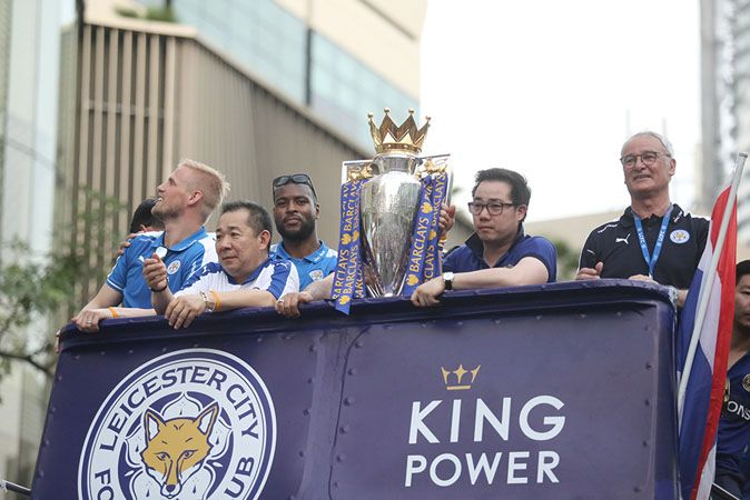 Leicester City get warm welcome in Bangkok