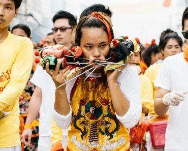 Thailand Phukets world-famous Vegetarian Festival