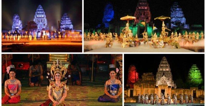 Thailand Festivals Phimai Historical Park Mini Light and Sound Show