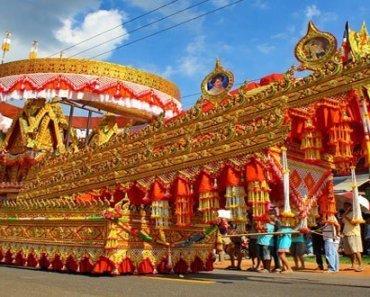 Thailand Festivals Bung Fai Skyrocket Festival