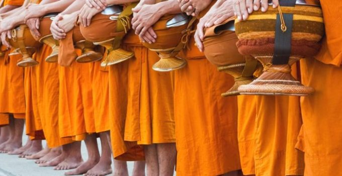 Monks Alms Rounds in Thailand