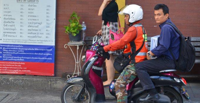 Moto Taxi Motorcycle Taxi Service in Bangkok Thailand