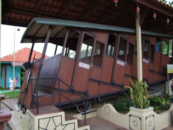 ancien wagon funiculaire penang hill malaisie