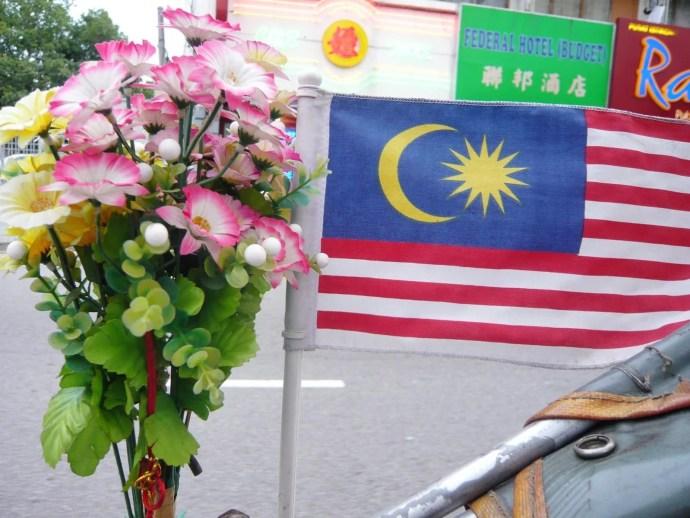 deco fleur drapeau malaisien trishaw penang