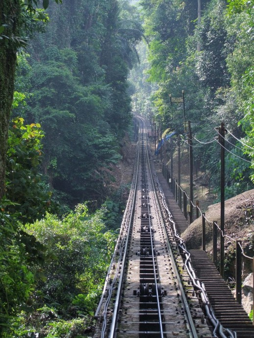 rail funiculaire penang hill malaisie