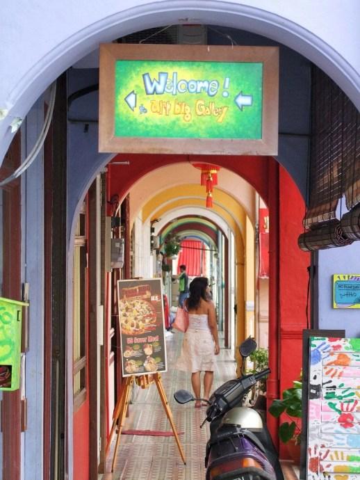 trottoir coloree chulia penang malaisie
