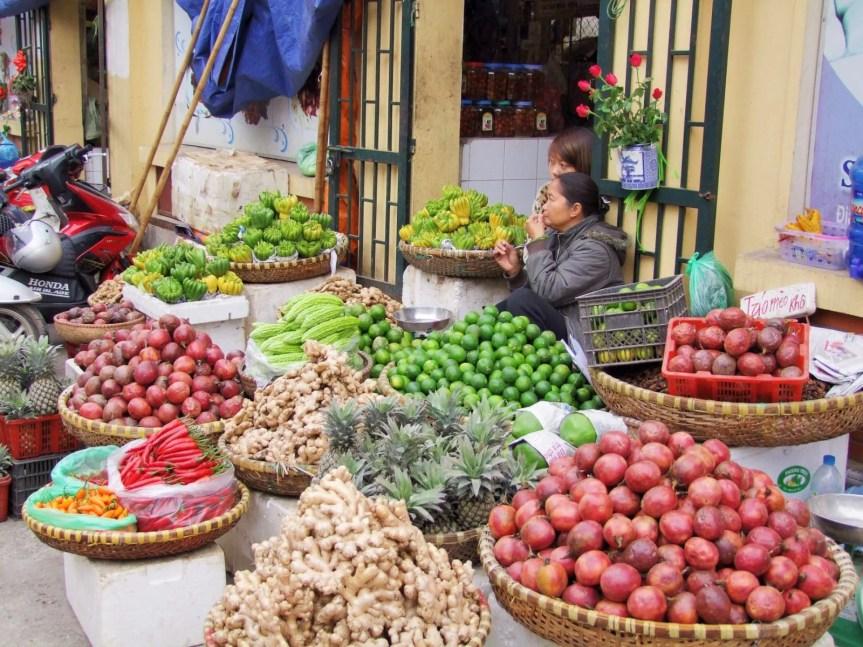 marché rue hanoi - vietnam 2010