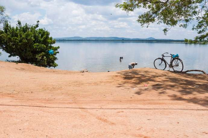 reservoir parakrama samudra - sri lanka