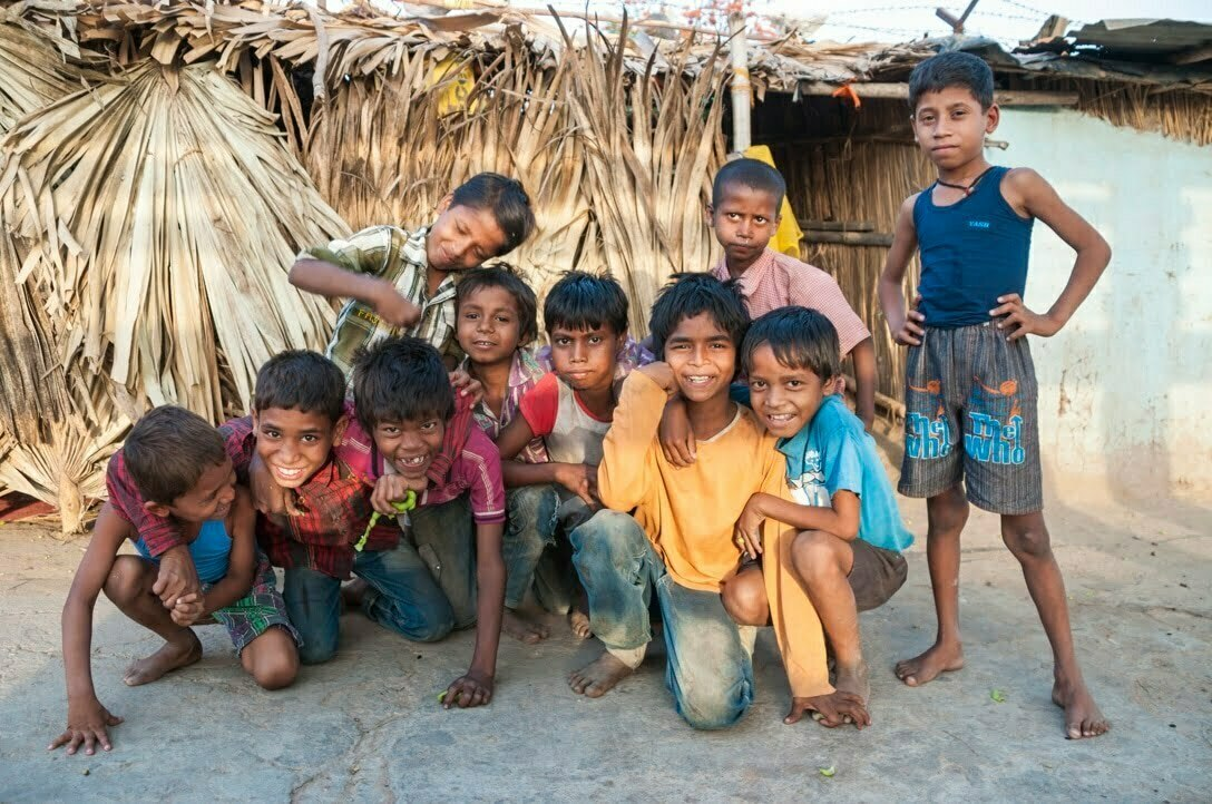 enfants Bodhgaya
