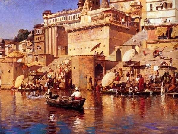Sur le Gange - Bénarès en 1883