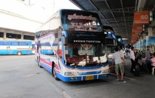 Station terminal bus bangkok_bus_phuket Thailande