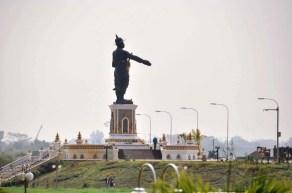 Statue du roi Anouvong Vientiane Laos